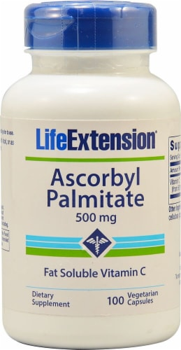 Life Extension Ascorbyl Palmitate 500mg Perspective: front
