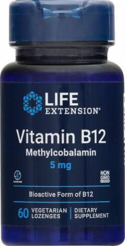 Vitamin B12 Lozenges 5mg Perspective: front