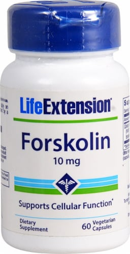 Life Extension Forskolin Vegetarian Capsules 10mg Perspective: front