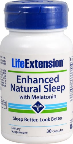 Life Extension  Enhanced Natural Sleep with Melatonin Perspective: front