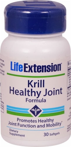 Life Extension Krill Healthy Joint Formula Softgels Perspective: front