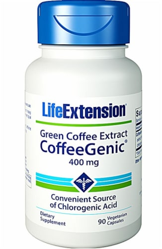 Life Extension  CoffeeGenic™ Green Coffee Extract 400mg Perspective: front