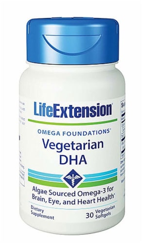 Life Extension  Omega Foundations® Vegetarian DHA Perspective: front