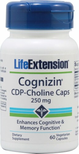 Life Extension Cognizin® CDP-Choline Caps 250mg Perspective: front