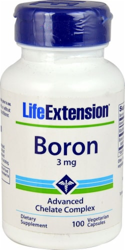 Life Extension Boron Vegetarian Capsules 3mg Perspective: front