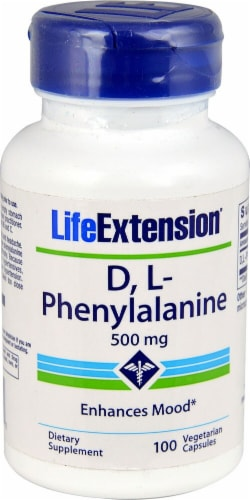 Life Extension DL-Phenylalanine 500mg Perspective: front
