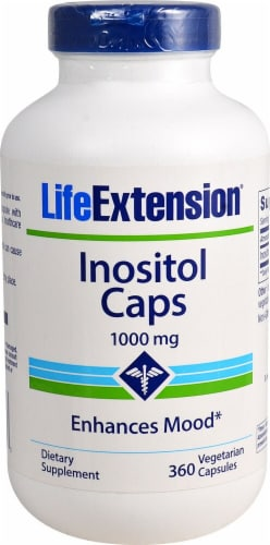 Life Extension Inositol Caps Vegetarian Capsules 1000mg Perspective: front