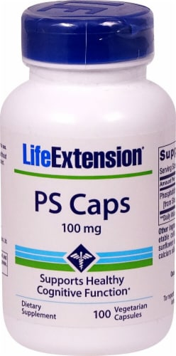 Life Extension PS (Phosphatidylserine) Vegetarian Capsules 100 mg Perspective: front