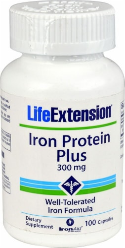 Life Extension  Iron Protein Plus Perspective: front