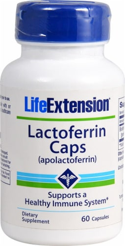 Life Extension  Lactoferrin (apolactoferrin) Caps Perspective: front