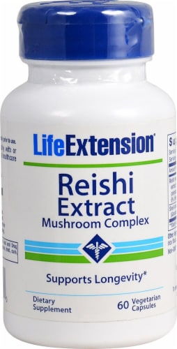 Life Extension  Reishi Extract Mushroom Complex Perspective: front