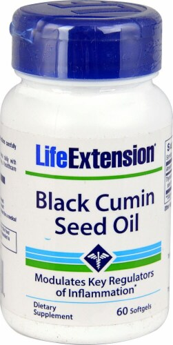 Life Extension  Black Cumin Seed Oil Perspective: front