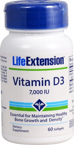 Life Extension Vitamin D3 Softgels Perspective: front