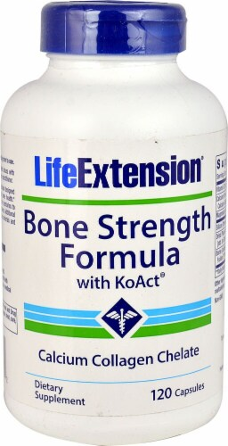 Life Extension  Bone Strength Formula with KoAct® Perspective: front
