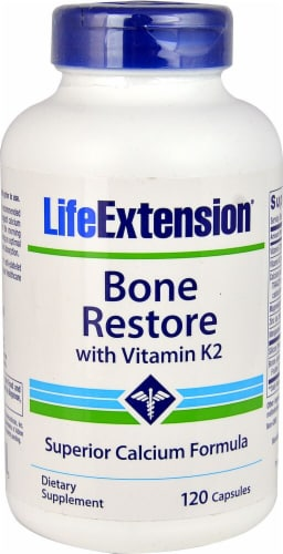 Life Extension  Bone Restore with Vitamin K2 Perspective: front
