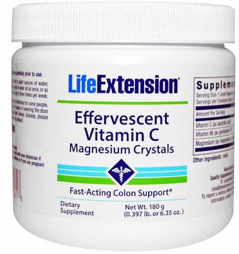 Life Extension Effervescent Vitamin C Magnesium Crystals Perspective: front