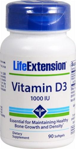Life Extension Vitamin D3 Softgels 1000 IU Perspective: front