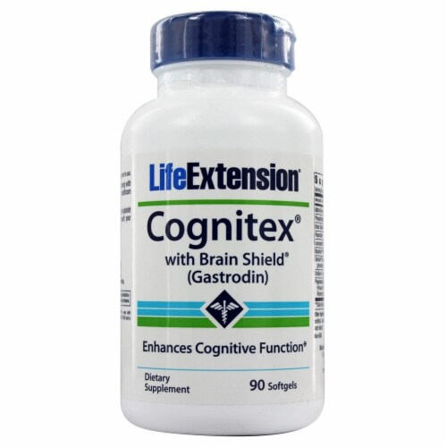 Life Extension Cognitex with Brain Shield, 90 Softgels Perspective: front