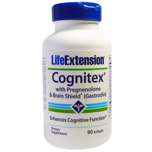 Life Extension Cognitex Plus Pregnenolone with Brain Shield, 90 Softgels Perspective: front