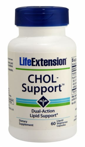 Life Extension CHOL-Support™ Vegetarian Capsules Perspective: front