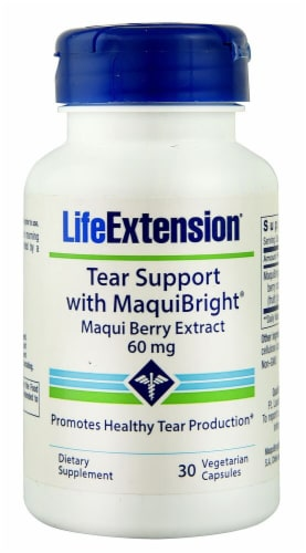 Life Extension  Tear Support with MaquiBright® 60mg Perspective: front