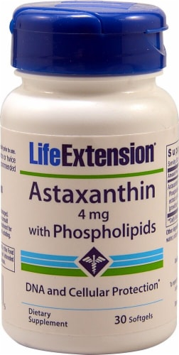 Life Extension  Astaxanthin with Phospholipids Perspective: front