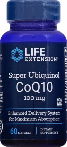 Life Extension Super Ubiquinol CoQ10 Softgels 100mg Perspective: front