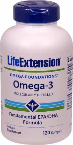 Life Extension  Omega Foundations™ Omega-3 EPA-DHA Perspective: front