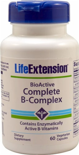 Life Extension  BioActive Complete B-Complex Perspective: front