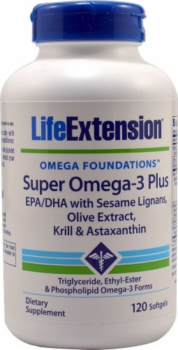 Life Extension  Omega Foundations™ Super Omega-3 Plus Perspective: front