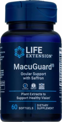 Life Extension  MacuGuard® Ocular Support with Saffron Perspective: front