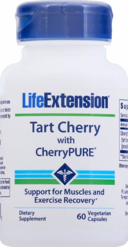 Life Extension Tart Cherry with CherryPURE Vegetarian Capsules Perspective: front