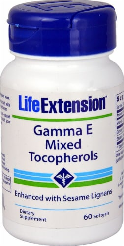 Life Extension Gamma E Mixed Tocopherols Softgels Perspective: front