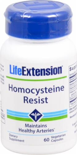 Life Extension Homocysteine Resist Vegetarian Capsules Perspective: front