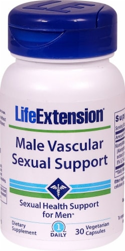 Life Extension Male Vascular Sexual Support Capsules Perspective: front