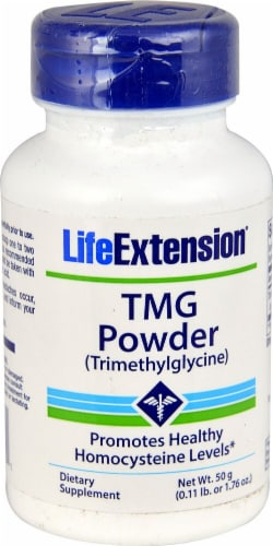 Life Extension  TMG Powder (Trimethylglycine) Perspective: front