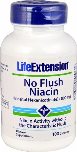 Life Extension  No Flush Niacin Perspective: front