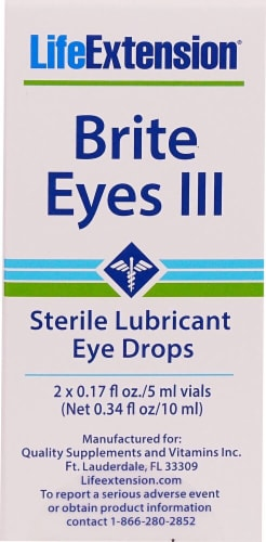Life Extension Brite Eyes III Sterile Lubricant Eye Drops Perspective: front