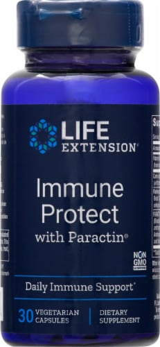 Life Extension Immune Protect with Paractin Vegetarian Capsules Perspective: front