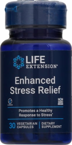 Life Extension Enhanced Stress Relief Vegetarian Capsules Perspective: front