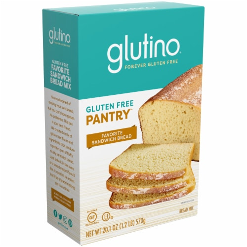 Glutino Gluten Free Pantry Favorite Sandwich Bread Mix Perspective: front