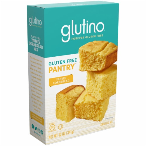Glutino Gluten Free Pantry Yankee Cornbread Mix Perspective: front