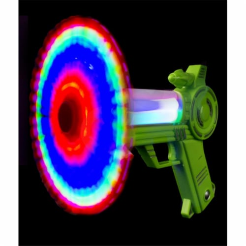 Blinkee A2080 LED Spinning Rainbow Color Toy Blaster Gun Perspective: front