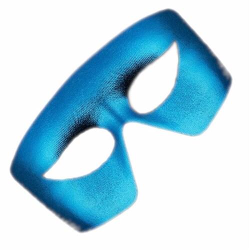 Blinkee MBNLUMMG Masquerade Blue Non-Light Up Metallic Mask Mardi Gras Perspective: front