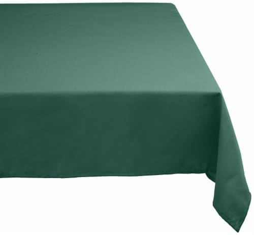 DII Green Polyester Tablecloth Perspective: front