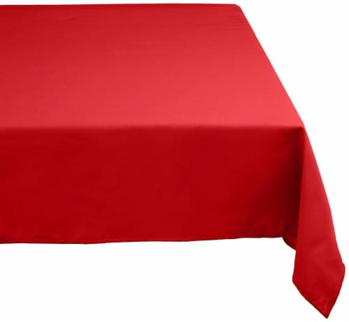 DII Red Polyester Tablecloth Perspective: front