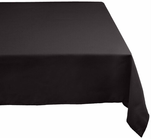 DII Black Polyester Tablecloth Perspective: front