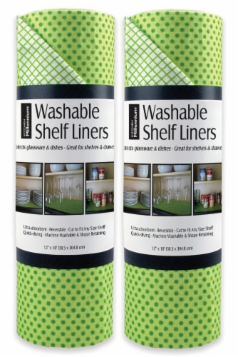 DII Green Dots Shelf Liner (Set of 2) Perspective: front