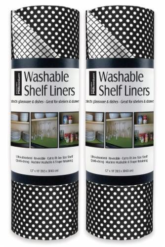DII Black Dots Shelf Liner (Set of 2) Perspective: front
