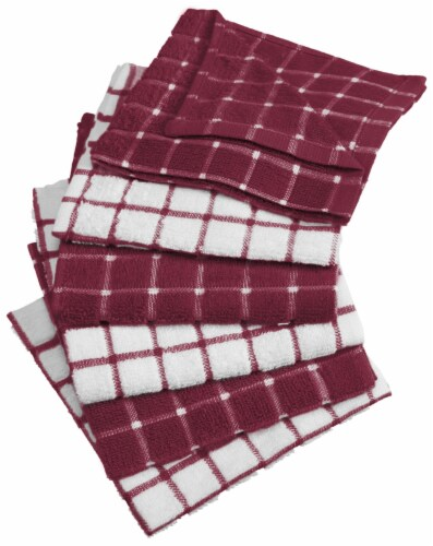 DII Wine Combo Windowpane Dishcloth (Set of 6) Perspective: front
